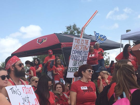 A literal straw spotted at #RedForEd Day 5 at the state