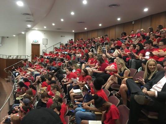 Arizona #RedForEd teacher walkout