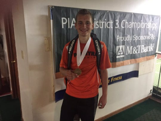 Ben Clary won his second straight county singles title on Saturday.