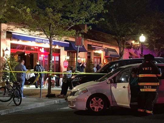 A car crashed into a restaurant on Mamaroneck Avenue on Sunday night, injuring numerous people and closing a section of the road.