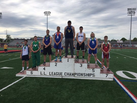 Cedar Crest's Tanner Miller was third in the boys javelin