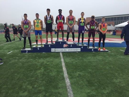 Stanley Miller of Annville-Cleona reached the top of