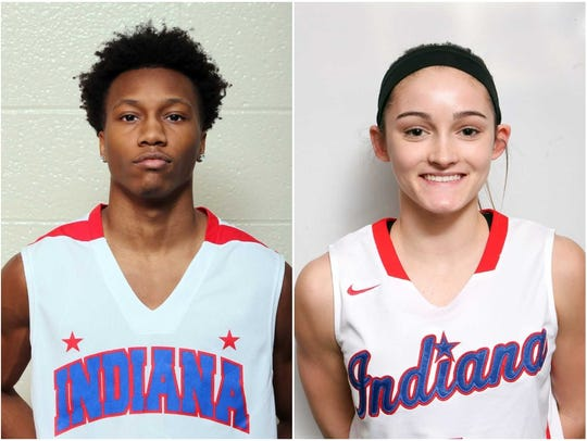 Bosse's Mekhi Lairy and North's Anna Newman were both Indiana All-Stars this summer. Both were named SIAC Athletes of the Year Sunday.