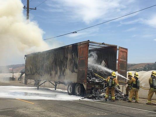 semitrailer fire