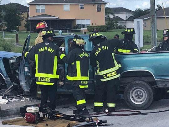 Palm Bay Fire Rescue extracted two patients with serious