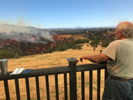 Fires broke out Sunday, June 24, 2018 in the area of