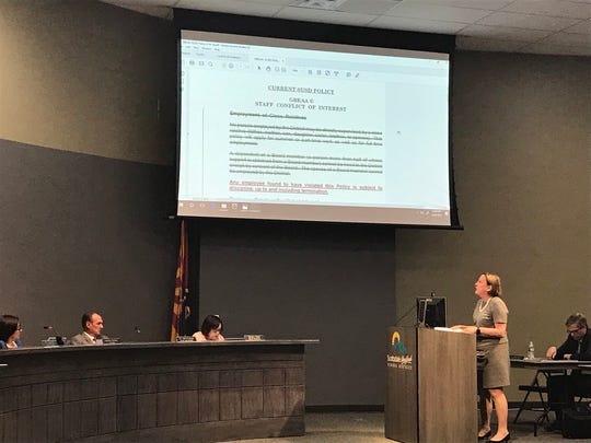 Attorney Susan Segal presents changes to the Scottsdale