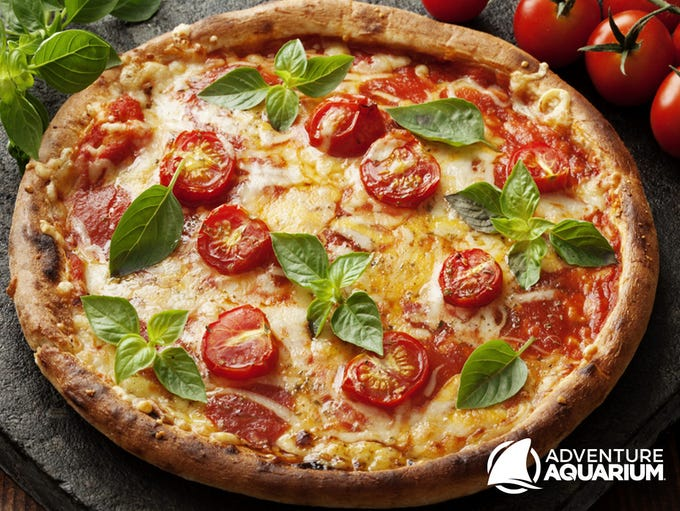 Fresh pizza is made to order at Adventure Aquarium's
