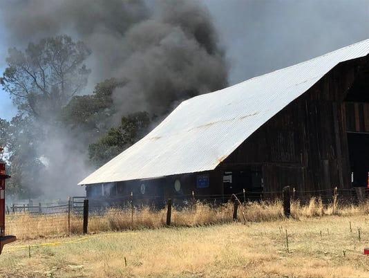 Palo Cedro barn fire