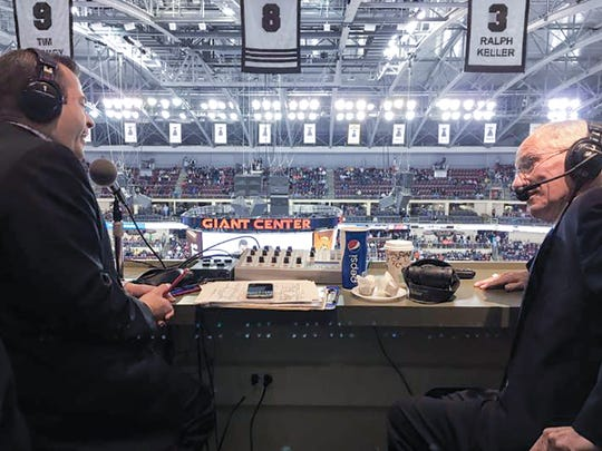 Dan D'Uva with his broadcasting mentor Mike Emrick.