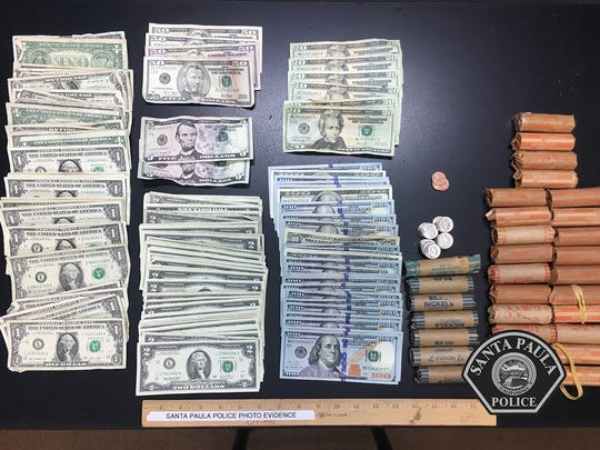 Santa Paula police collected stolen cash from a suspect