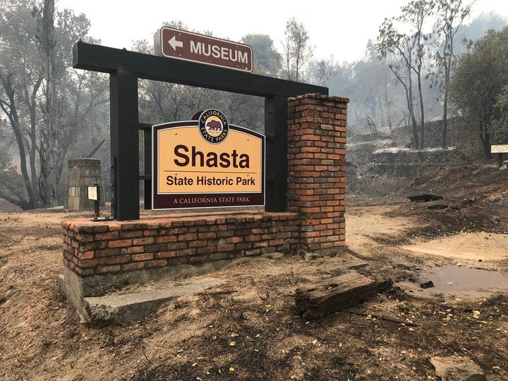 Shasta State Historic Park is still standing, but it