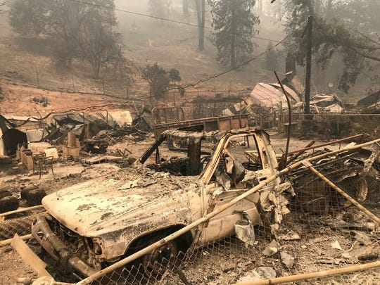 The town of French Gulch did not lose any homes, but the area outside it was devastated by the Carr Fire.