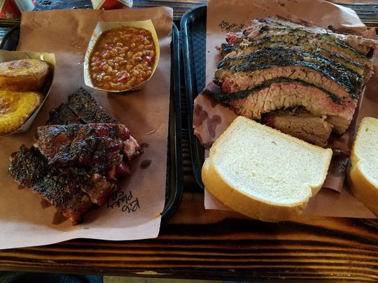 Brisket and ribs from Evie Mae's located in Wolfforth.