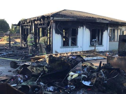 Fire destroys guest house