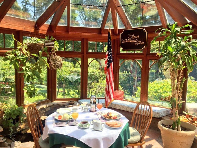 Breakfast in the Conservatory at the Inn at Bowman's