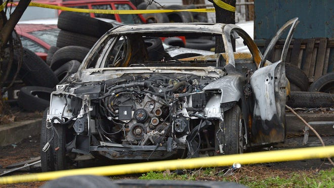 A body was found in this vehicle, April 13, when Erie firefighters responded to an early-morning car fire in the vehicle, located in the 300 block of East 12th Street. The cause of the man's death and the cause of the fire have both been ruled accidental.