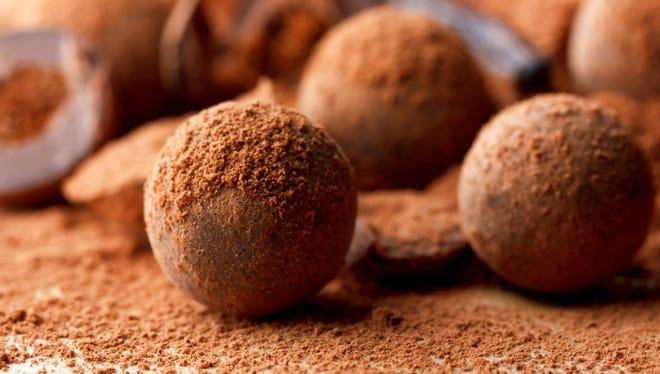 Chocolate bourbon truffles with pecans