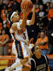 UTEP standout point guard Jareica Hughes