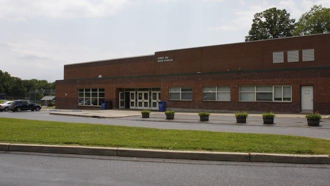Exterior of John Jay High School in Cross River.