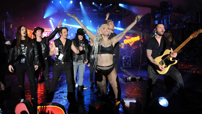 Lady Gaga performs on March 13 at the South by Southwest festival in Austin, Texas.