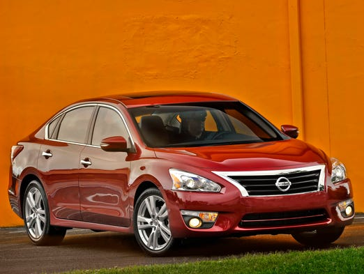 The Nissan Altima sedan, redesigned for the 2013 model and carrying forward for the 2015 model year.