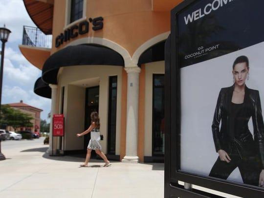 FILE: Chico's store front at Coconut Point in Estero,