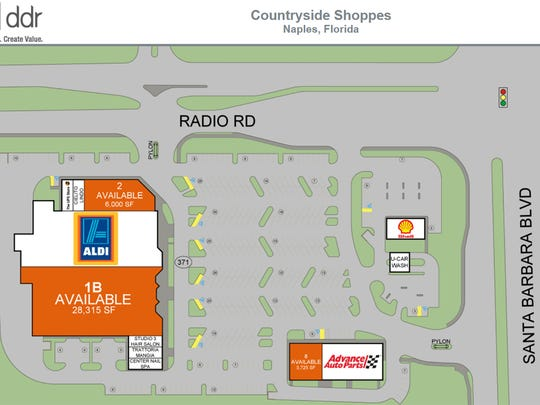 Aldi discount supermarket is targeted to open next spring in part of the former Sweetbay store in Countryside Shoppes on the southwest corner of Santa Barbara Boulevard and Radio Road in East Naples.