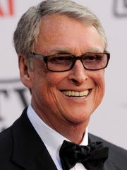 FILE - In this June 10, 2012, file photo, Director Mike Nichols arrives at the AFI Lifetime Achievement Awards honoring Mike Nichols, presented at Sony Pictures Studios in Culver City, Calif. Nichols died Wednesday, Nov. 19, 2014. He was 83. (AP Photo/Chris Pizzello, File)