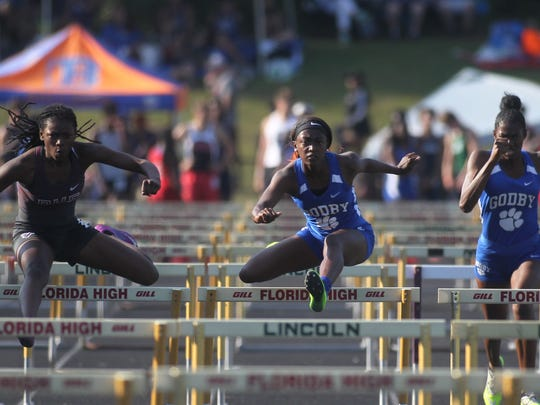Godby's Armarni Williams runs to a win in the 100-meter