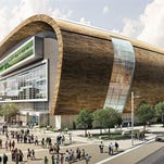 The Bucks hope to begin playing in the new arena by the 2018-'19 season.