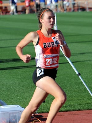 Burkburnett's Madelaine Johnston ran a personal-best 11:15.61 Friday morning to earn a bronze medal in the 4A girls 3,200.
