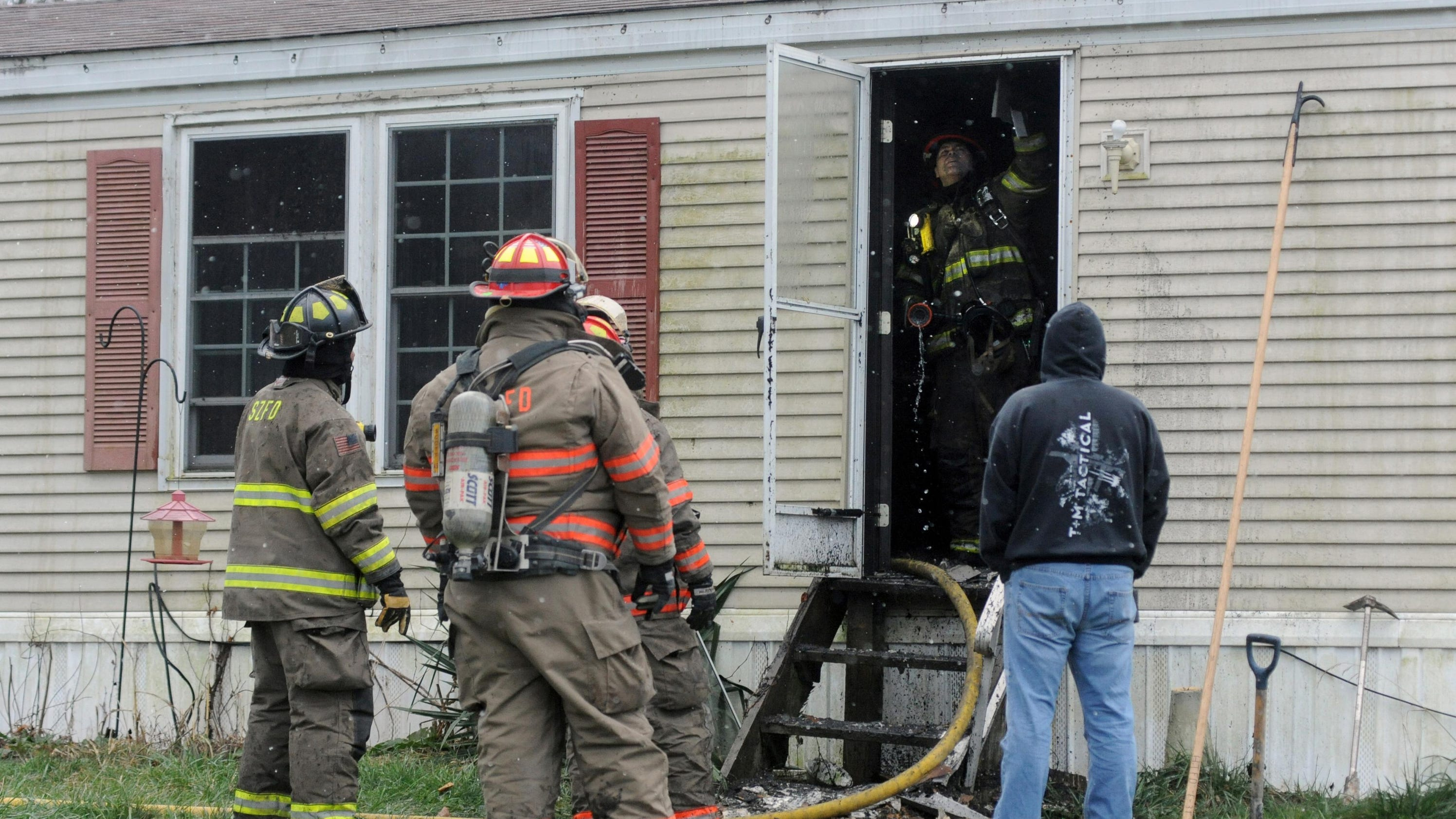 One Transported After House Fire
