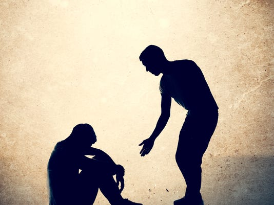 Helping Hand to Man in Need