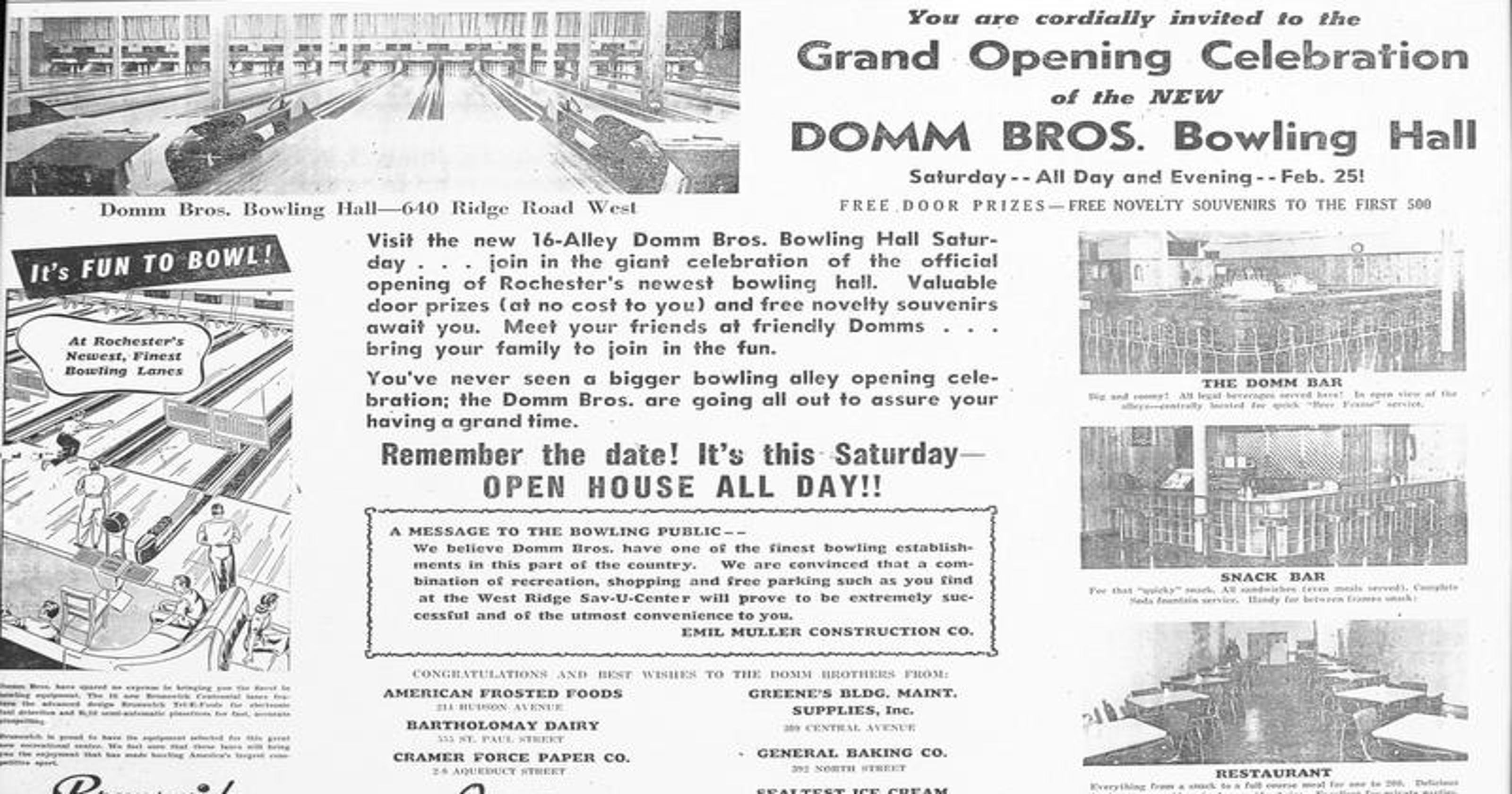 Decades of strikes, spares at Domm's
