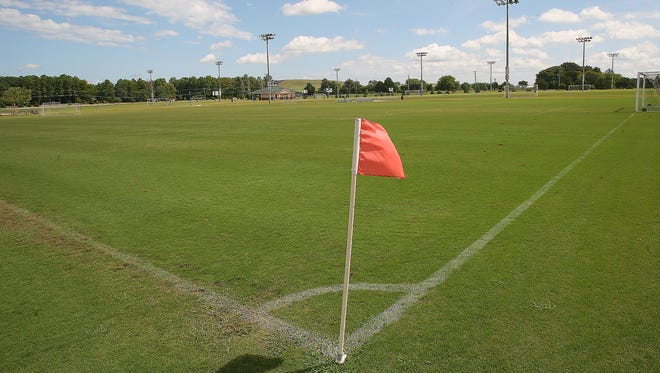 The fields at the Richard Siegel Soccer Complex show minimal damage to the park after the Tennessee Cup youth soccer tournament Aug. 29-Sept. 1. The picture was taken Tuesday, Sept. 2.