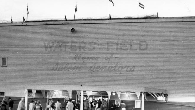 Waters Field was built in 1940 and burned down in 1966. The Salem Senators, later renamed the Dodgers, played at the ballpark until the team folded in 1965.