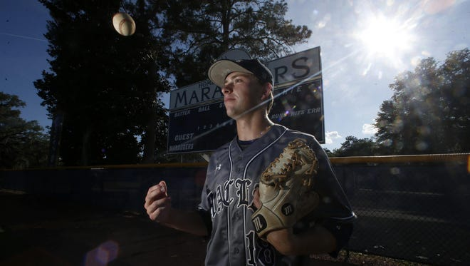 Maclay senior Max McKinley is the 2016 All-Big Bend Player of the Year in baseball after going 11-3 with a 0.74 ERA and 103 strikeouts in 95 innings pitched, while also hitting .379 with 20 RBI and 20 runs scored during the Marauders' run to the state tournament.