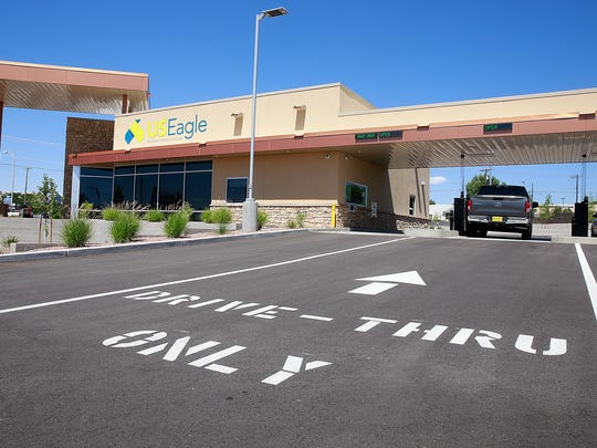 Three drive-through lanes are available at the new U.S. Eagle Federal Credit Union location in Farmington.
