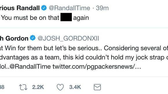 Packers Player Takes Low Blow At Josh Gordon