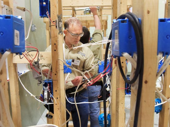 YTI Career Institute electrical technology student