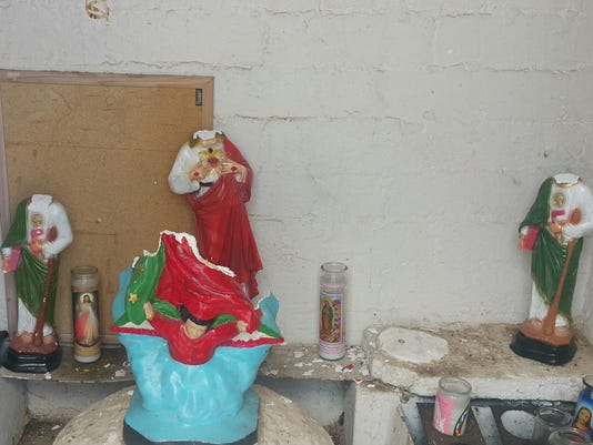 Religious shrine damaged