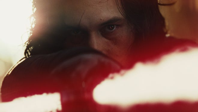 Adam Driver's Kylo Ren as seen in the first teaser for 'Star Wars: The Last Jedi.'
