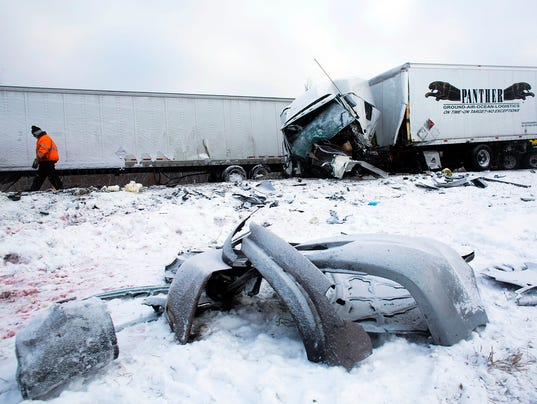 AP WINTER WEATHER MICHIGAN PILEUP A USA MI