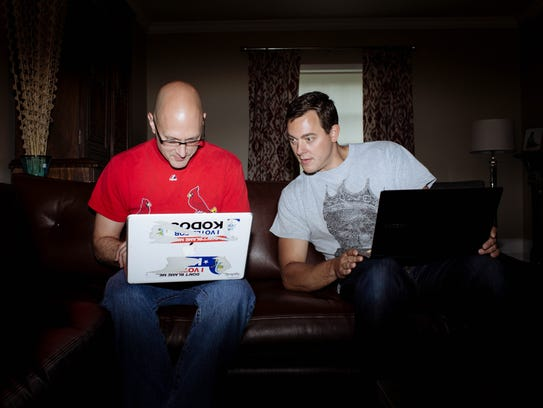 Charlie Miller, left, a security researcher at Twitter,