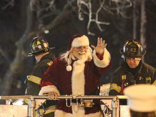 Santa Claus arrives in Morristown in November 2016 for the annual Christmas Festival at the Morristown Green.