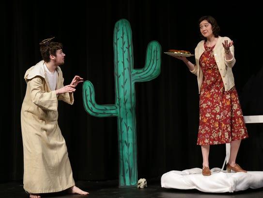 David Firari, playing St. Francis, and Katie Tredinnick,
