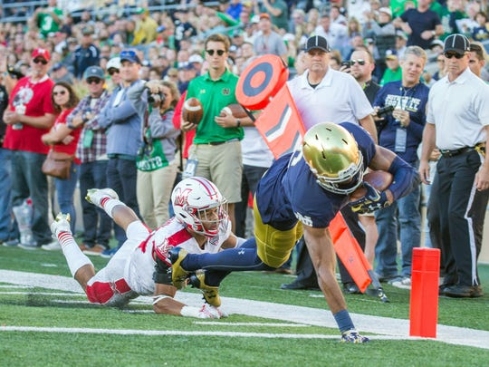 Notre Dame Fighting Irish wide receiver Equanimeous