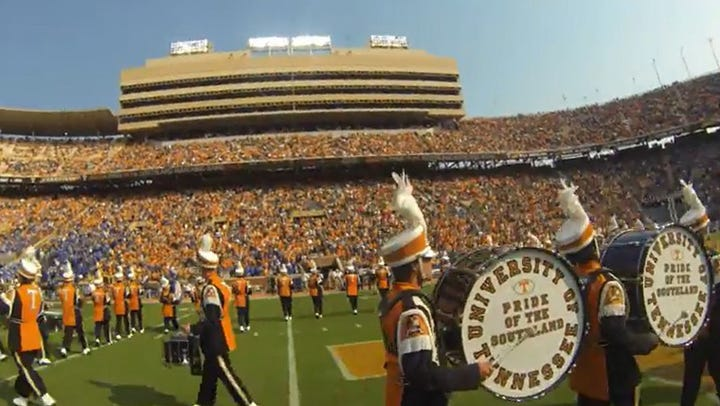 Experience Neyland Stadium through the eyes of the UT band