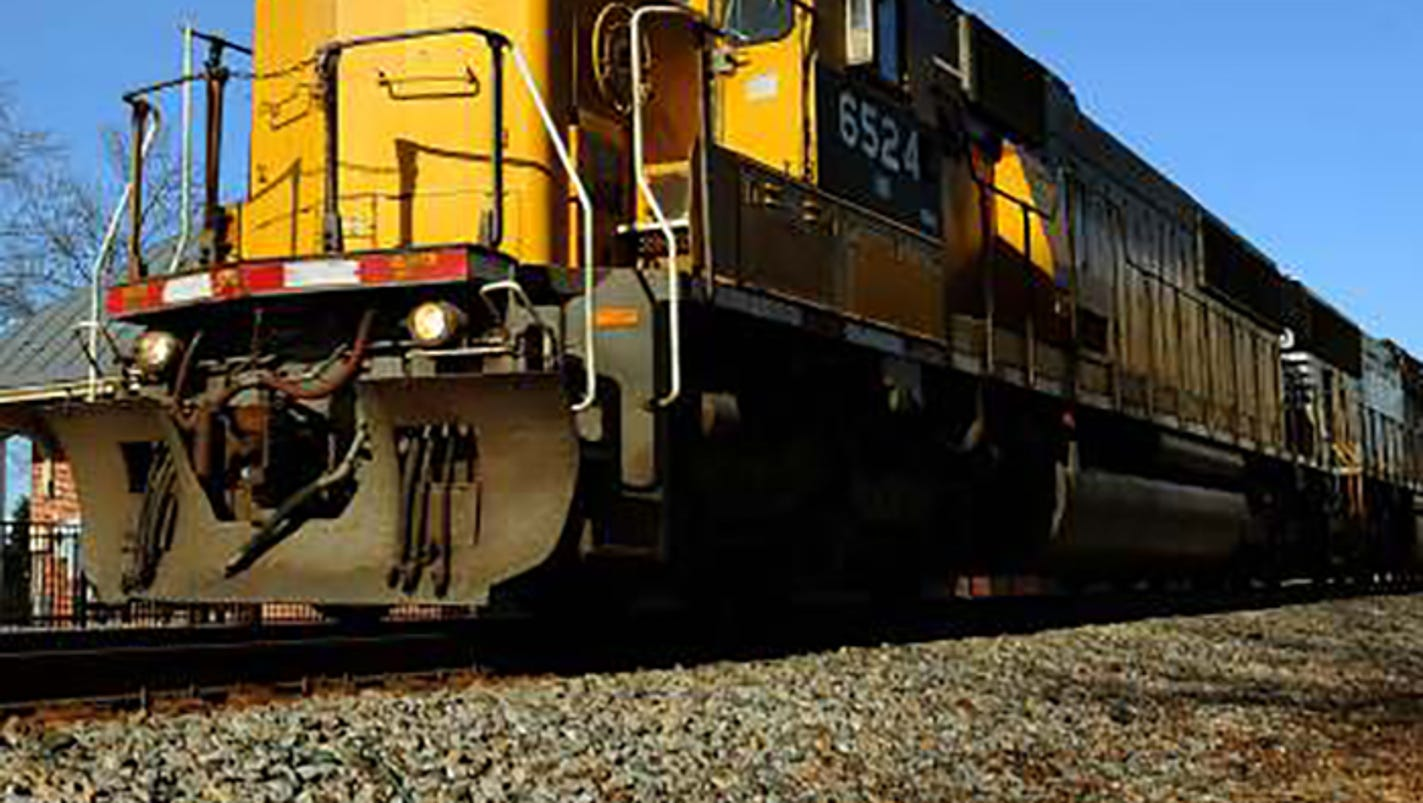 Man hit by train in critical condition